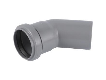Scala bocht 45° MF 90mm polypropyleen grijs