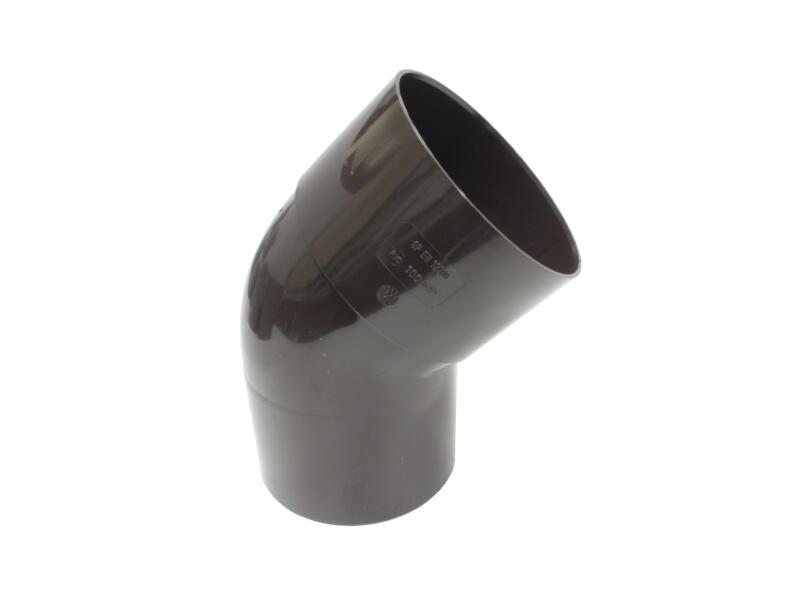 Scala bocht regenwaterafvoer 45° 100mm PVC bruin