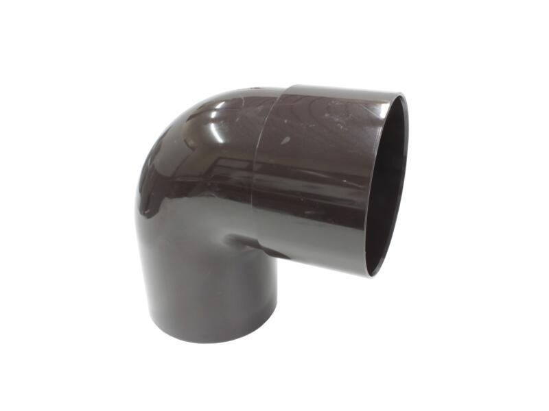 Scala bocht regenwaterafvoer 87° 100mm PVC bruin