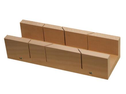 Toolland boîte à onglets 25x5,5x3,8 cm bois