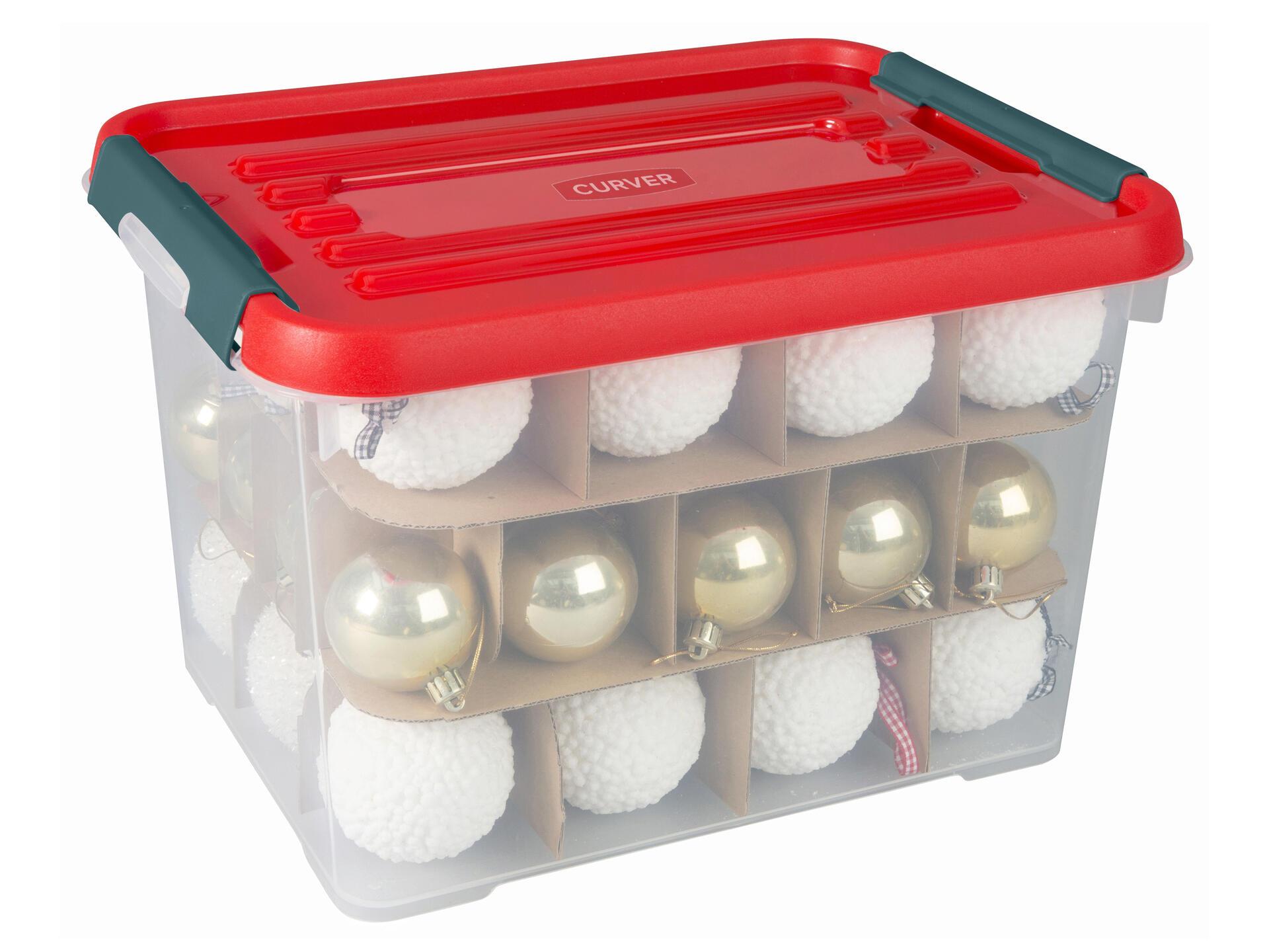 Curver boîte de rangement Xmas Box Handy+ 20l | Hubo