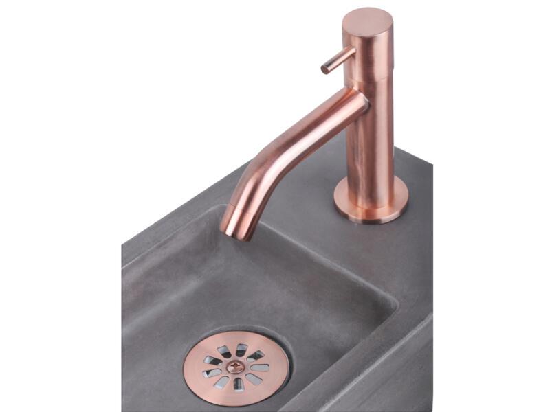 Differnz bonde de lavabo 64mm cuivre mat