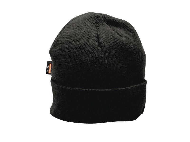 Portwest bonnet à doublure microfibres noir