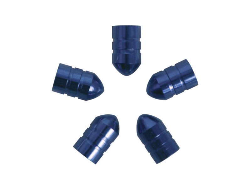Carpoint bouchon de valve douille bleu 5 pièces