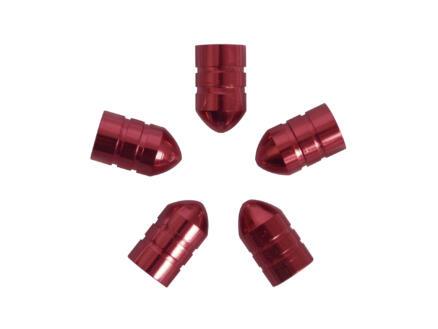 Carpoint bouchon de valve douille rouge 5 pièces