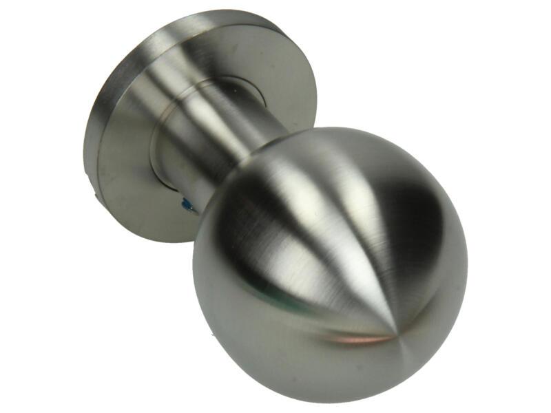Yale bouton tournant droite avec rosace 50mm inox