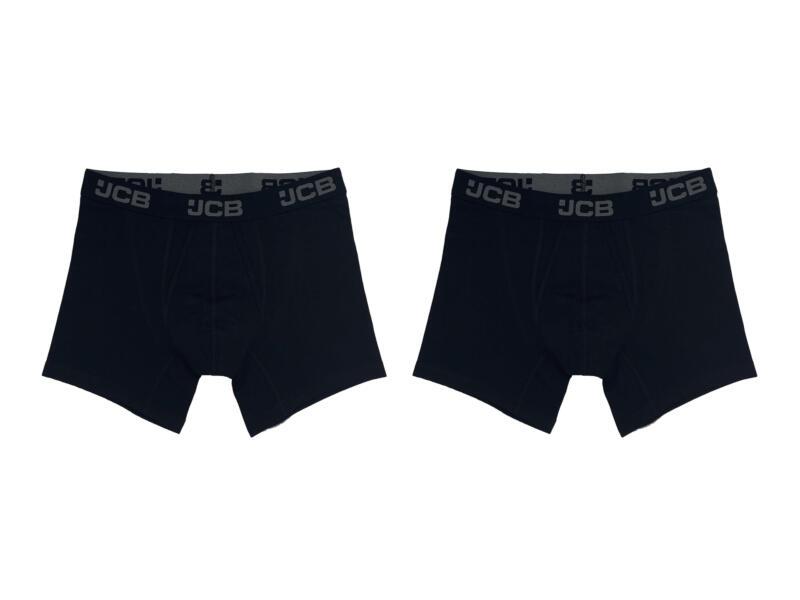 JCB boxer homme XL noir 2 pièces