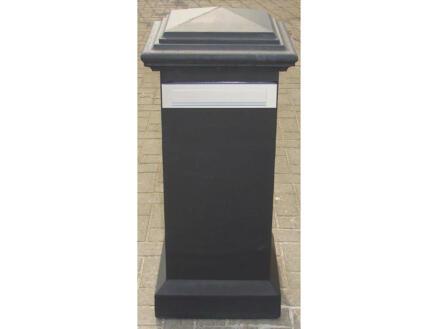 De Witte brievenbus beton zwart