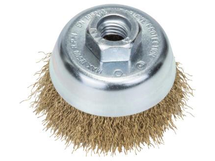 Bosch brosse boisseau à fils ondulés 70mm M14 laiton