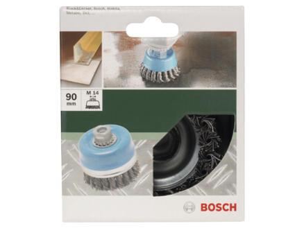 Bosch brosse boisseau à fils torsadés 90mm M14 acier
