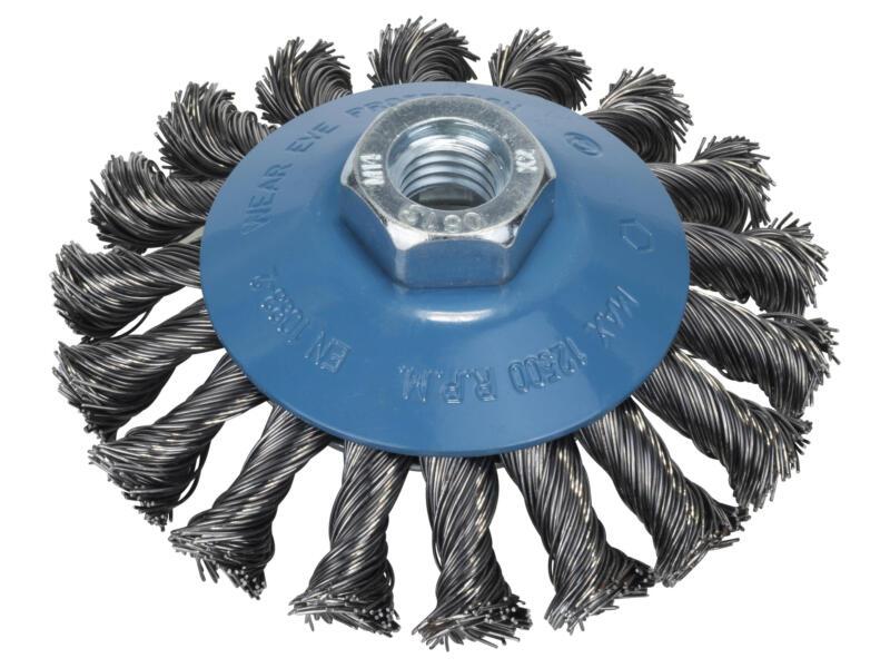 Bosch brosse conique à fils torsadés 100mm M14 acier