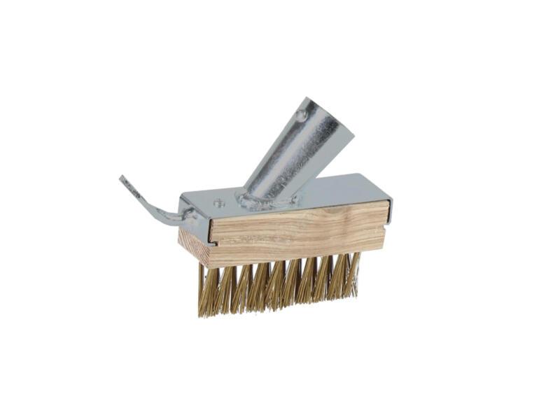 Polet brosse-émousseur avec grattoir