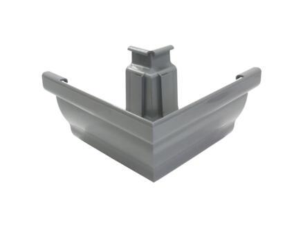 Scala buitenhoek voor dakgoot C140 PVC donkergrijs
