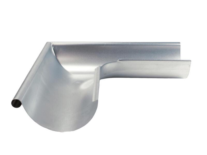 Scala buitenhoek voor dakgoot G125 galva grijs