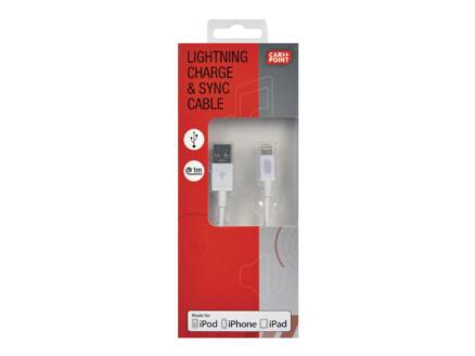 Carpoint câble USB Apple 8-pôles 1m blanc