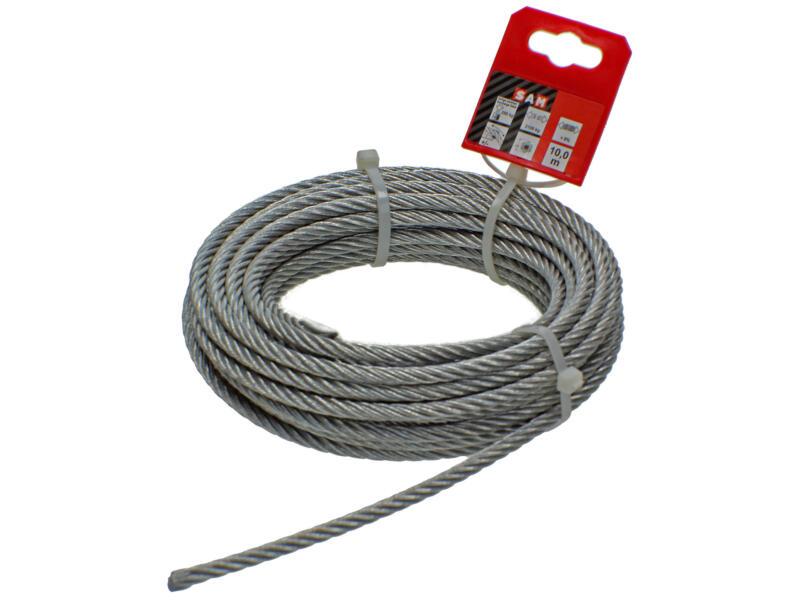 Sam câble d'acier 10m 6mm zingué