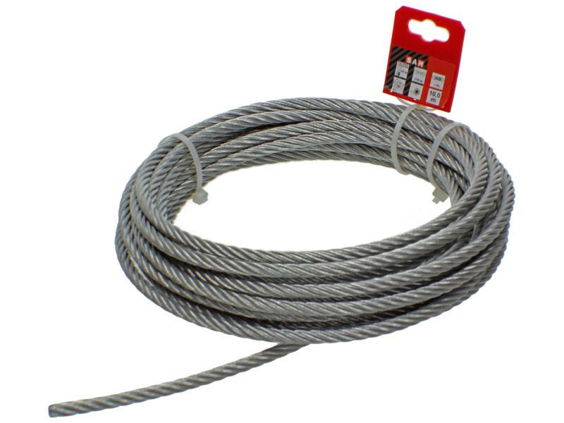 Sam câble d'acier 10m 8mm zingué