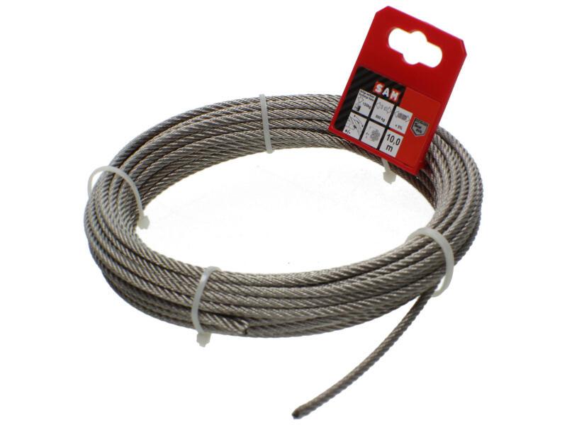 Sam câble d'acier 7x7 10m 4mm inox