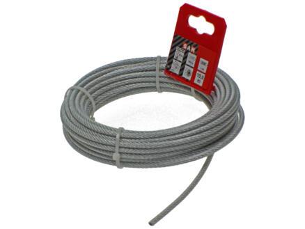 Sam câble d'acier plastifié 10m 4mm zingué