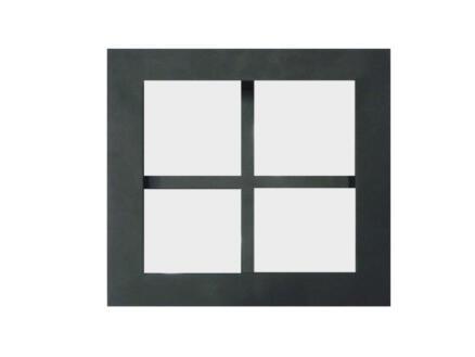 Solid cadre en verre croisillon 186x186 mm verre mat/acier