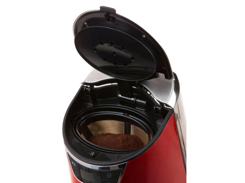 Domo cafetière numérique 1,5l rouge