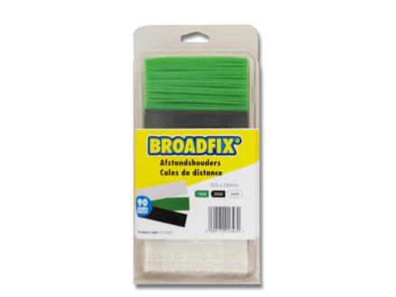 Broadfix cales d'espacement 100x28 mm 1-3 mm plat 90 pièces