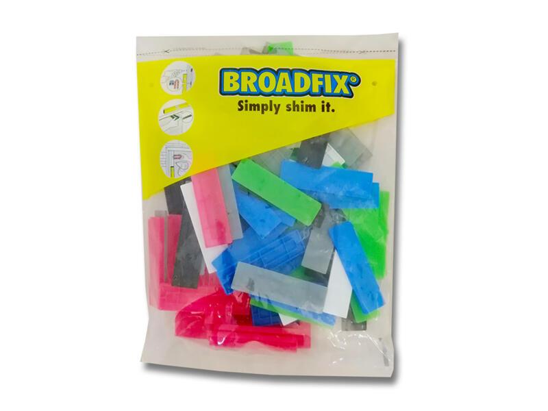 Broadfix cales d'espacement 100x28 mm 1-6 mm plat 120 pièces