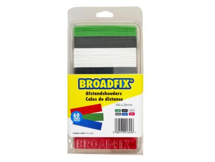 Broadfix cales d'espacement 100x28 mm 1-6 mm plat 60 pièces