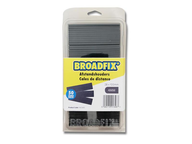 Broadfix cales d'espacement 100x28x4 mm plat 50 pièces