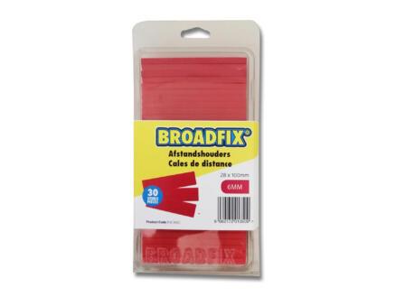 Broadfix cales d'espacement 100x28x6 mm plat 30 pièces