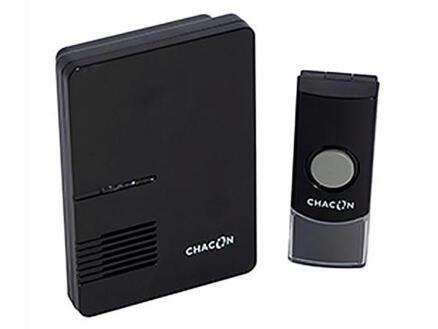 Chacon carillon de porte sans fil noir