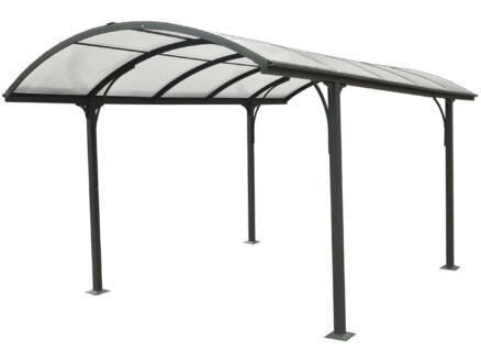 Garden Plus carport 305x485 cm transparent/métal anthracite