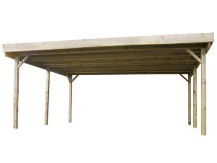 Gardenas carport double 510x500 cm bois