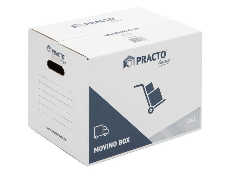 Practo Home carton de déménagement 40x30x30 cm