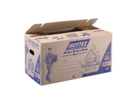 Mottez carton de déménagement 60x30x30 cm