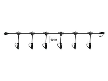 Easy Connect chaîne de raccordement 6 connecteurs 2,8m noir