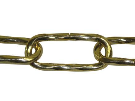 Sam chaîne de suspension ovale torsadé 2m laitonné