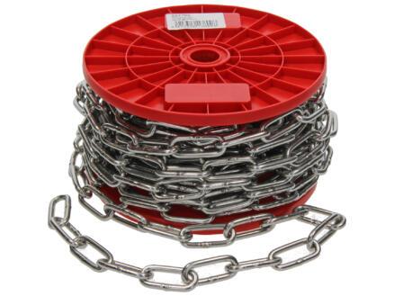 Sam chaîne rond maillon court 5mm inox par mètre courant