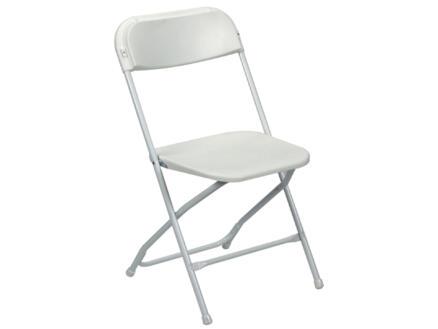 Perel chaise pliante blanc
