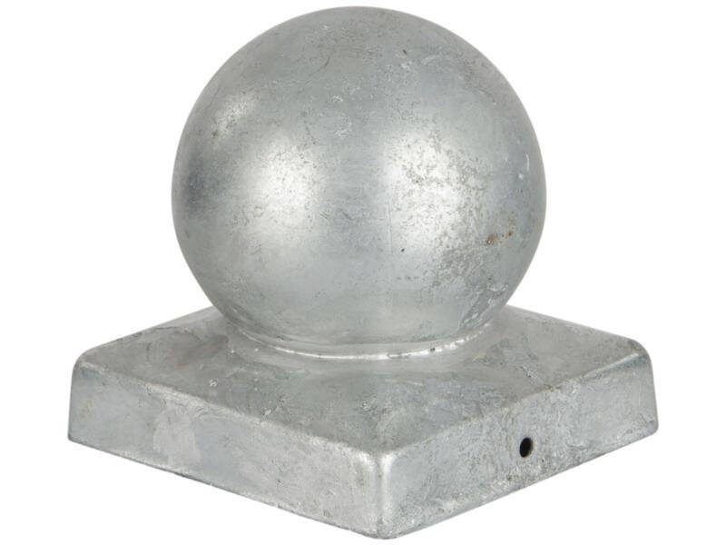 Practo Garden chapeau poteau boule galvanisé 90x90 mm