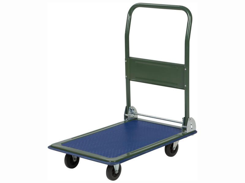 Practo Home chariot à plateau 150kg bleu