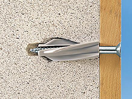 Fischer cheville pour béton cellulaire GB 8x50 mm 4 pièces