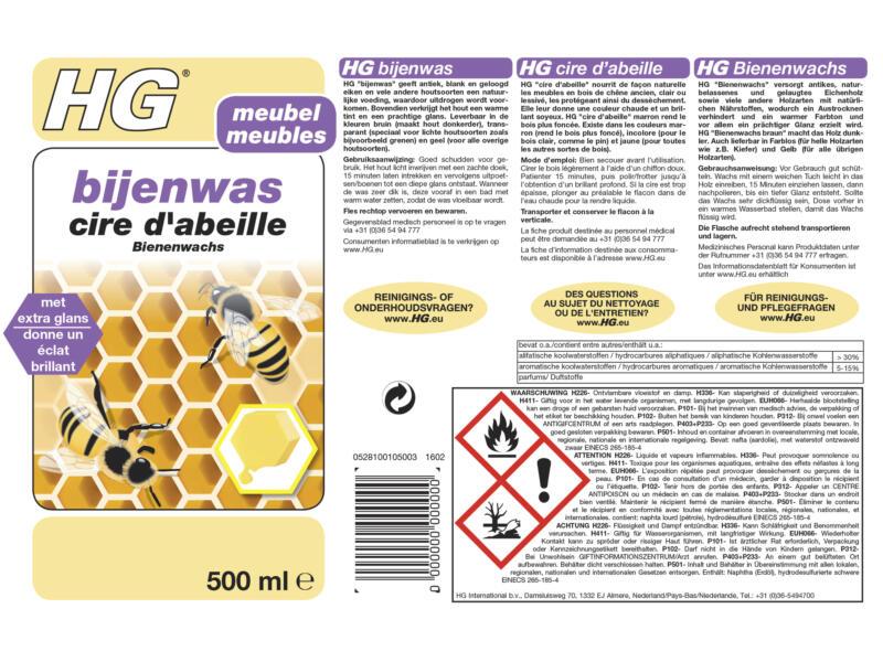 HG cire d'abeille 500ml jaune
