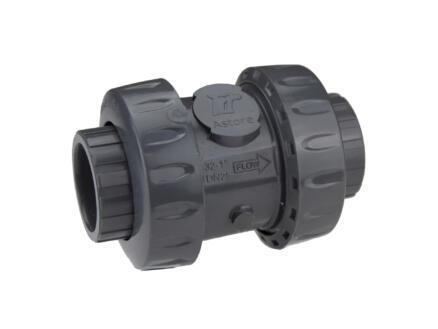 Astore clapet anti-retour 32mm PVC à ressort