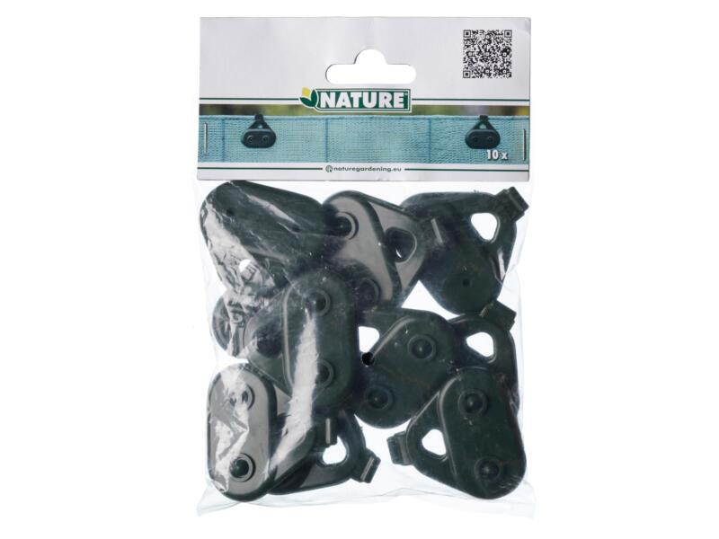 Nature clip de fixation pour voile 10 pièces