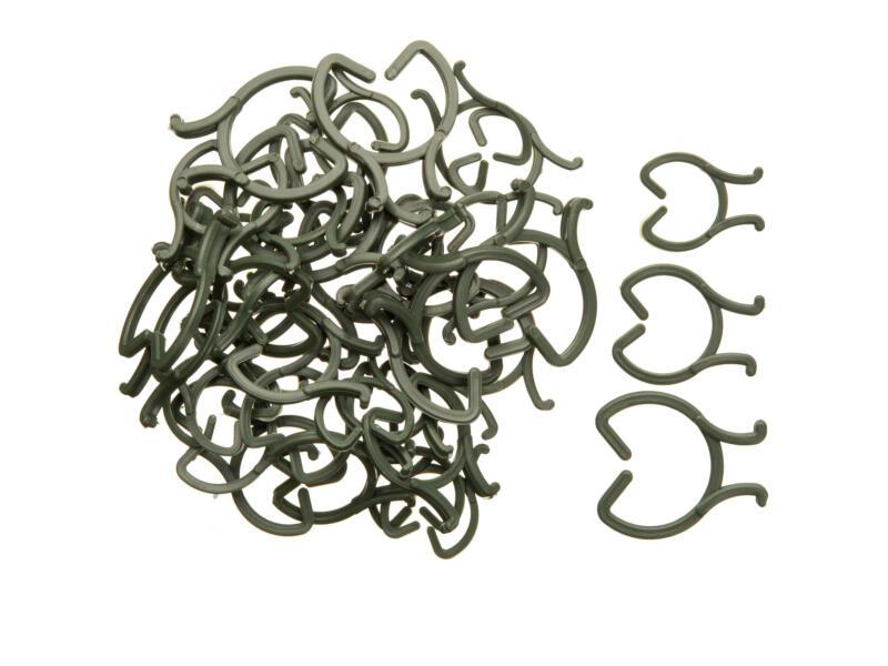 Nature clips de tuteurage ouverts 16mm 40 pièces