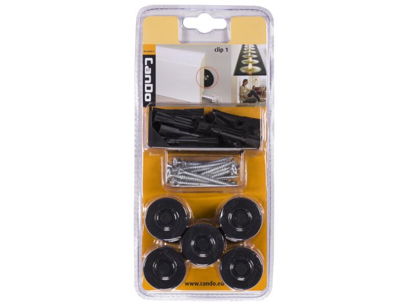 CanDo clips plinthes noir 25 pièces