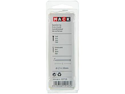 Mack clous à tête plate 2,7x50 mm 100g