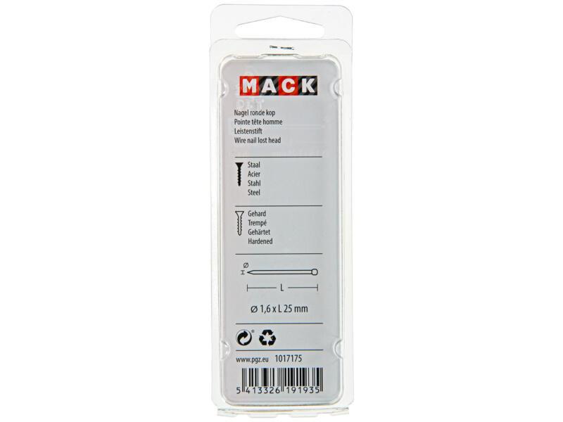 Mack clous à tête ronde 1,6x25 mm 45g