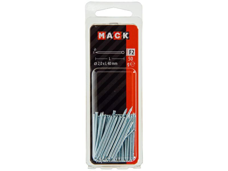 Mack clous à tête ronde 2x40 mm 50g
